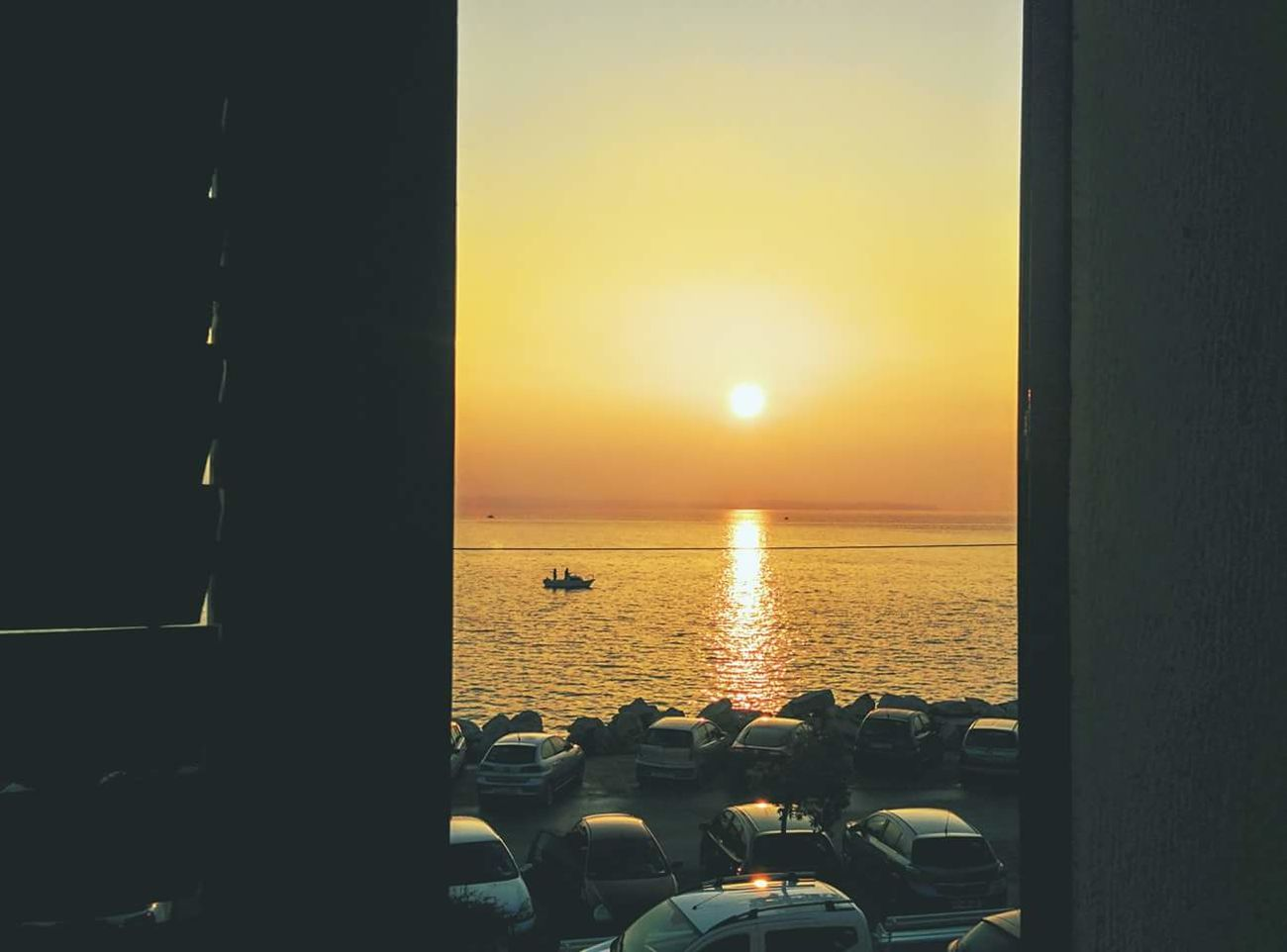 Sunset Sea Sunlight Nature Water Sky Horizon Over Water OutdoorsPositive Vibes Beautiful Light Moment Seaside Travel Destinations Tranquility Beauty In Nature Photooftheday Piran/Pirano Slovenia Window Through The Window Calm Sea Followme