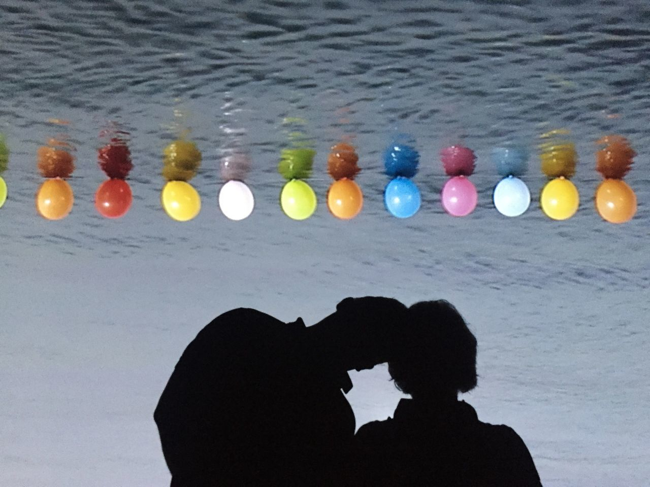 Together Water Leisure Activity Real People Silhouette Multi Colored Day Beach Outdoors One Person People Silhouette Reflection Venice Couple Sea Ocean