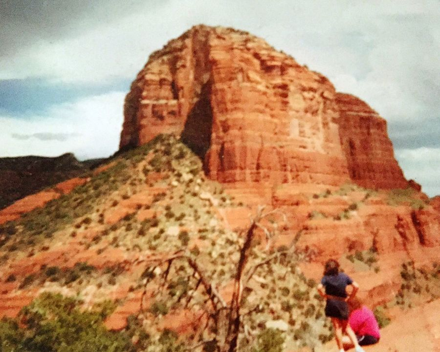 Check This Out Hi! Hello World Hanging Out Top Of The World America Coast To Coast Outdoors Enjoying Life Nature Tranquility Beauty In Nature Sunshine Colors Sky_collection Happiness ♡ Desert Rock Formation Southwest  SEDONA TRAIL Geology Mom And Daughter Clay Hiking Adventures Hiking Trail