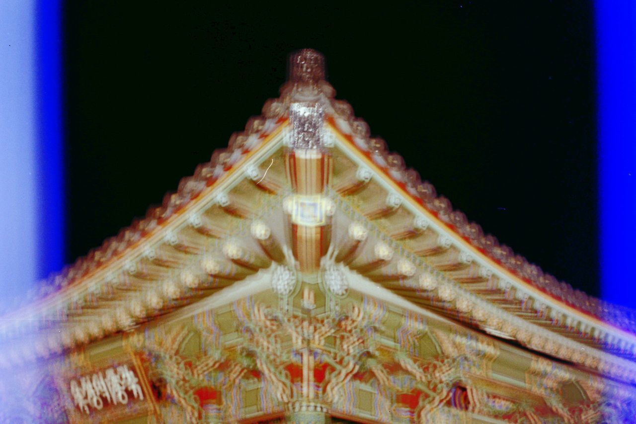 night, illuminated, low angle view, no people, amusement park, built structure, architecture, outdoors, carousel, close-up