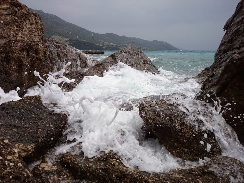 Beauty In Nature Brandung Breakers Coastline Croatia Europe Meer Nature Nature Orebic Outdoors Power In Nature Power Of Nature Power Of The Nature Power Of The Sea Rock Rock - Object Rock Formation Sea Stone Water Watersplash Wave Whitewater Capture The Moment