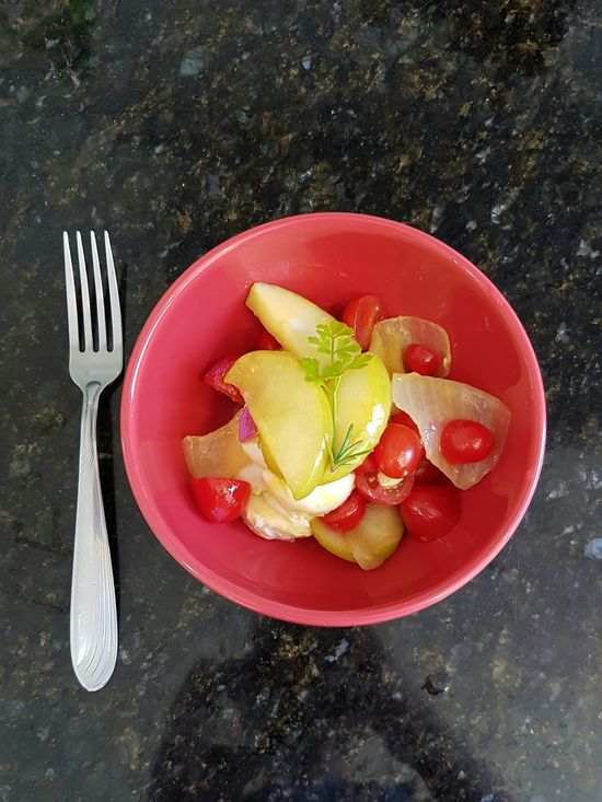 Fork Plate Fruit Food Food And Drink Healthy Eating No People Freshness Everyday Food Red