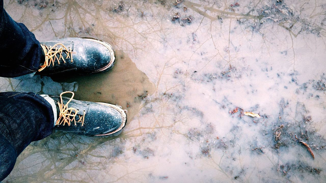 Wet Shoe Human Body Part Low Section Adult One Person Women People Human Leg Adults Only Outdoors Day Nature Photography Wet Water Reflections Water