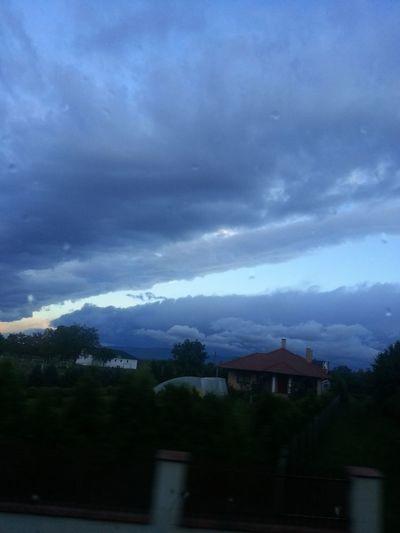 #hungary #storm #dark Clouds#rain #sunset #storm Vs Sun Day House Landscape Nature Outdoors Sky First Eyeem Photo