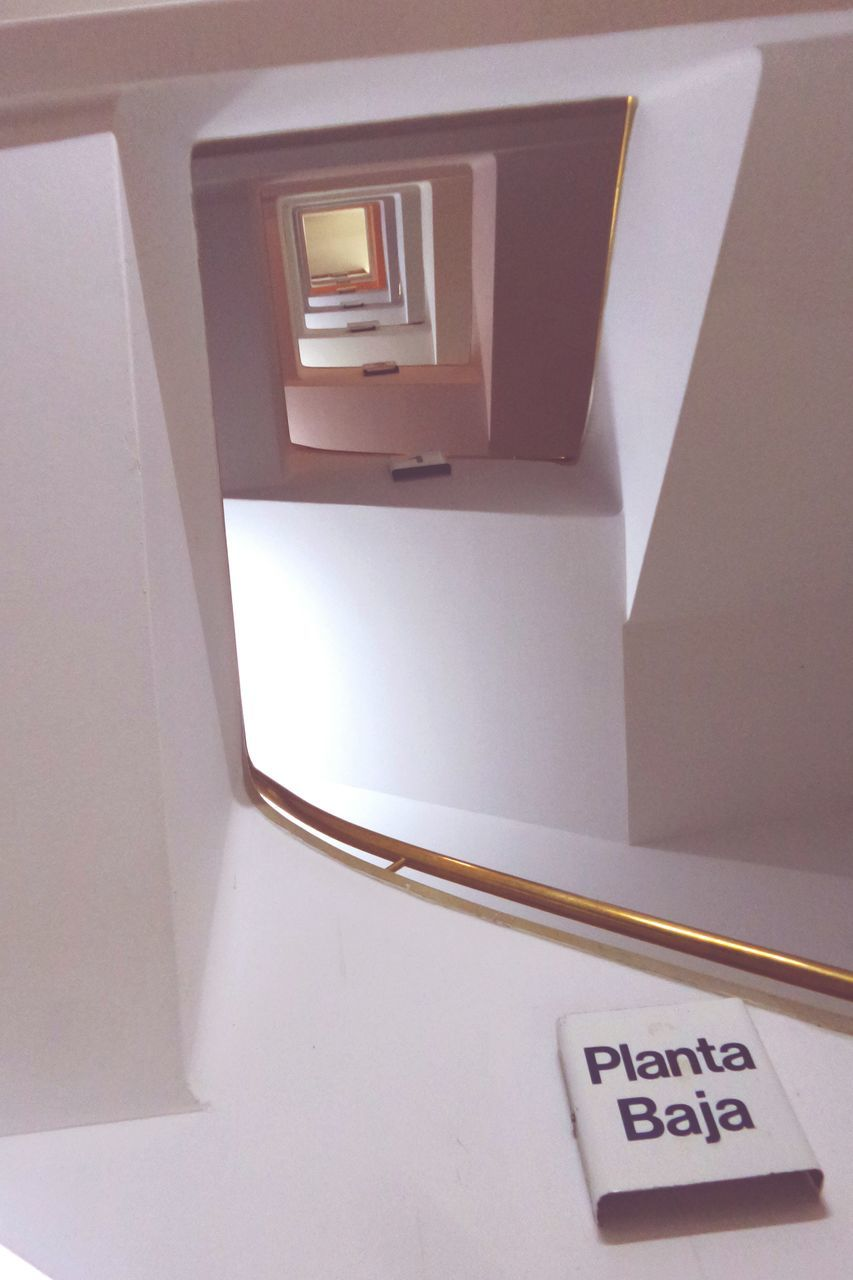 text, communication, indoors, steps and staircases, no people, day, close-up