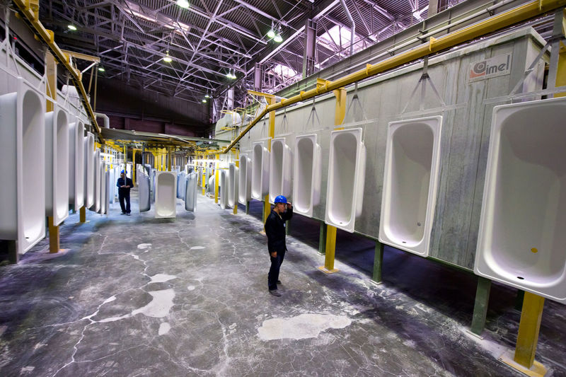 Russia, Yekaterinburg, Upper Iset plant, painting line baths Architectural Column Architecture Building Built Structure Casual Clothing City Life Corridor Day Full Length Leisure Activity Lifestyles Russia, Yekaterinburg, Upper Iset Plant, Painting Line Baths The Way Forward