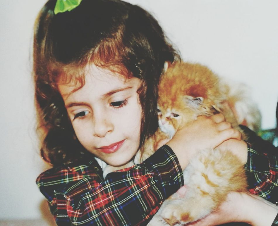 Beautiful memories... Me Children Only Portrait Childhood Friendship Animal_collection Child And Cat Red Cat 😺 Hugs & Love  Love It My Puppy EyeEmNewHere EyeEmNewHere