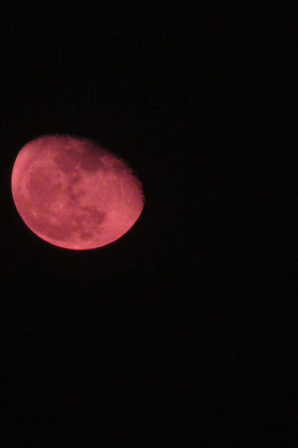 Red moon on the occasion of Karwachoth Moon Copy Space Night Astronomy Nature Beauty In Nature Moon Surface Tranquility Planetary Moon Low Angle View Idyllic No People Half Moon Space EyeEm Vision EyeEm EyeEm