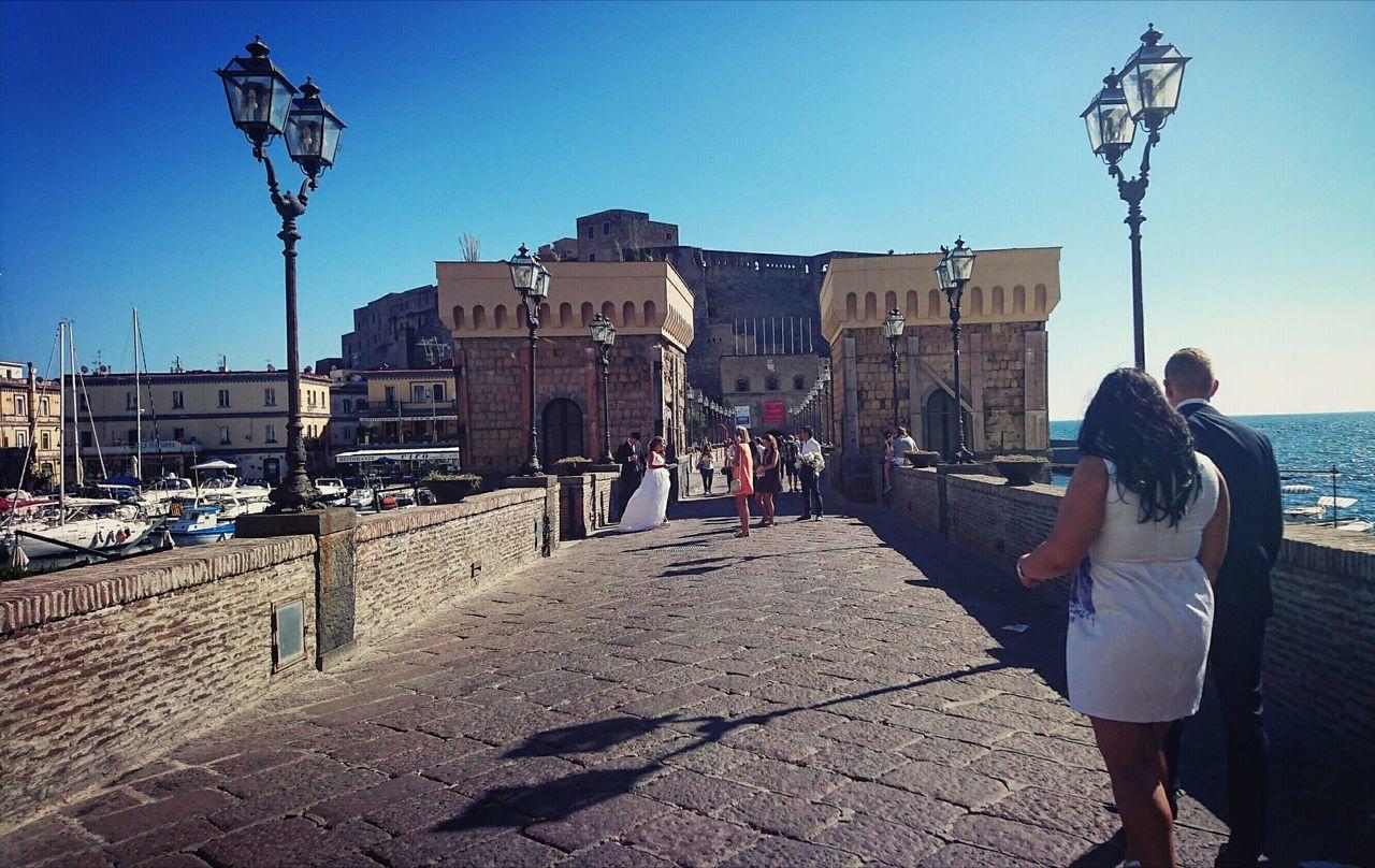 Augustus 2016 Aout2016. Le chateau au port de Naples... Napoli ❤ Castro Castello Castel