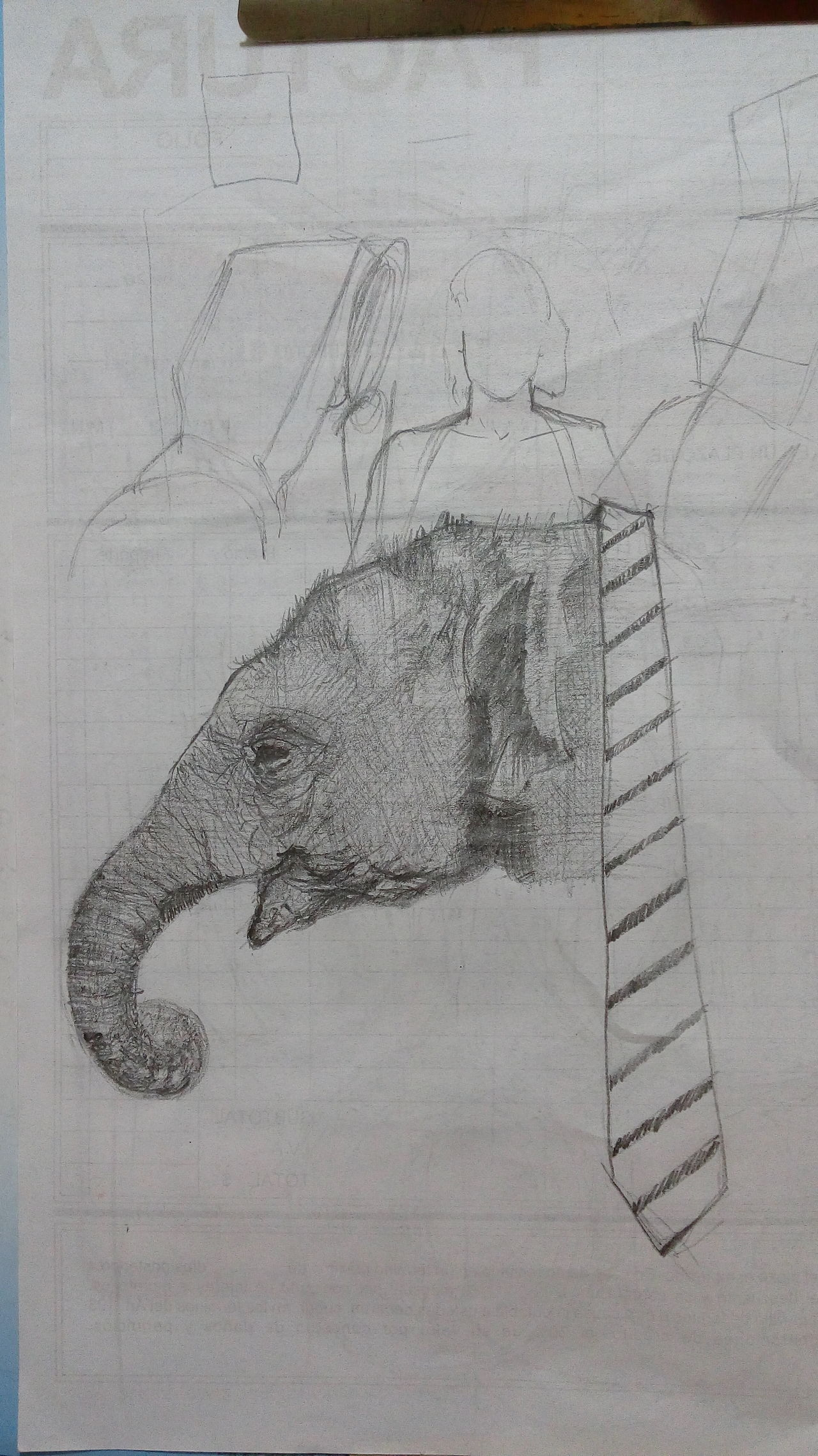 Bocetando. First Eyeem Photo Sketchbook Sketchart Grafito Lapiz Dibujo Elefante  Elephant