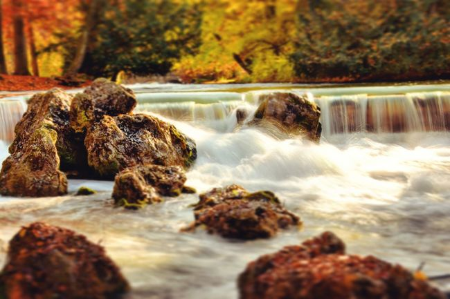 Water Flowing Motion Forest Stream Flowing Water Rock - Object Beauty In Nature Nature Stone Rock Rocky Moss Green Nature Beauty In Nature HDR Germany Munich München Day