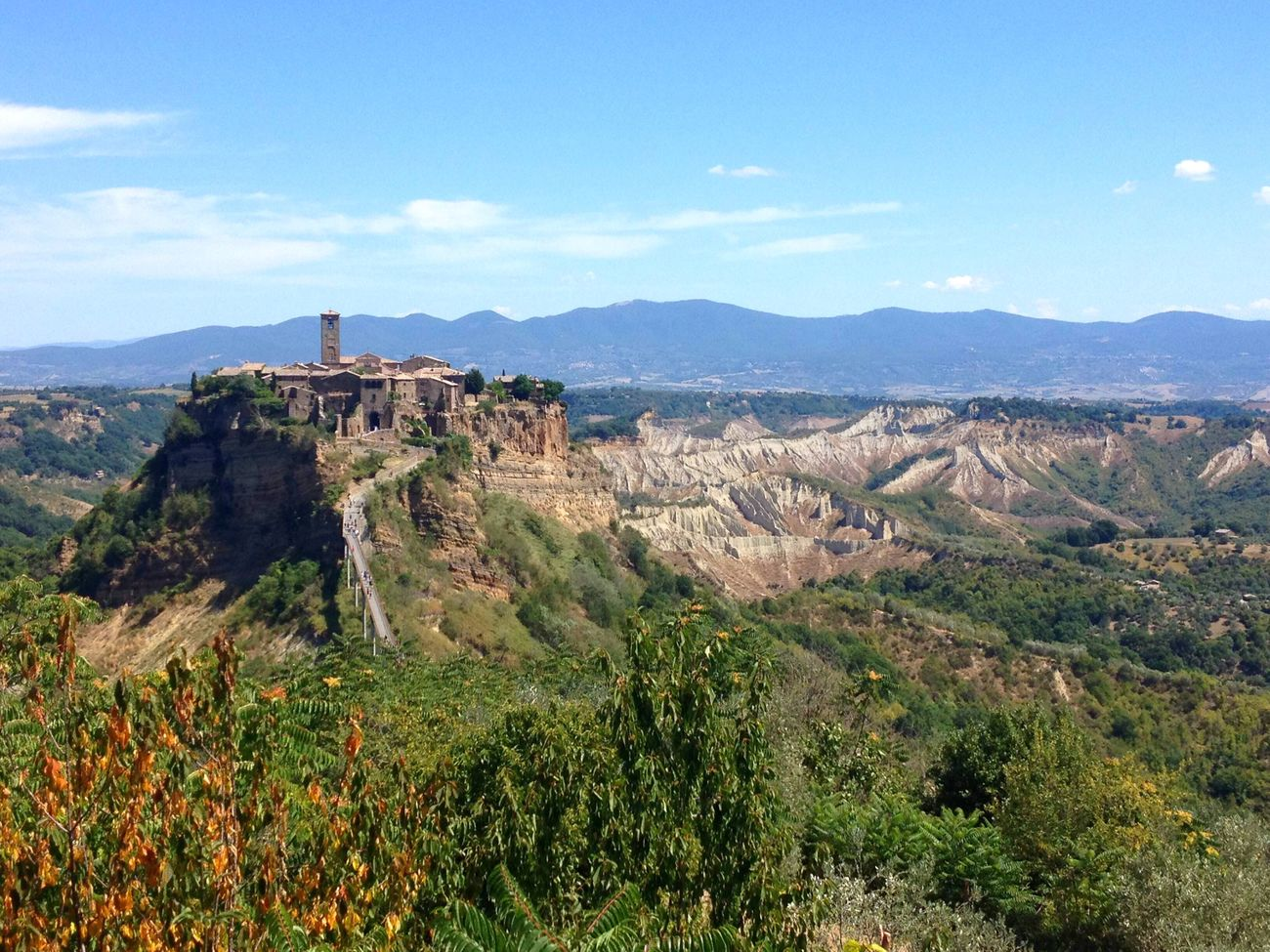 Civita Di Bagnoregio Architecture Mountain Range Built Structure Sky Landscape Cloud Beauty In Nature Italy Italia La città che muore
