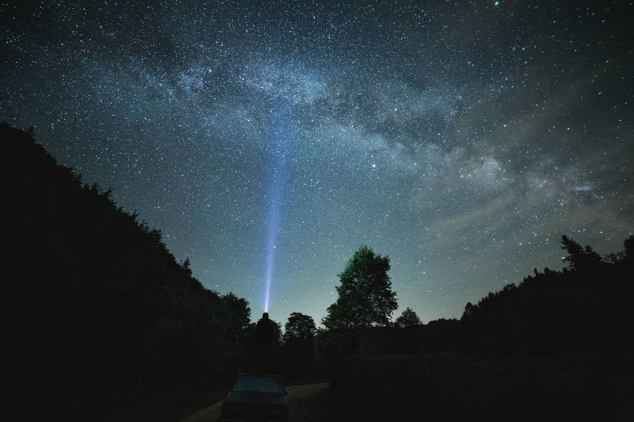 Astronomy Beauty In Nature Blue Constellation Exploring Galaxy Landscape Landscape_Collection Milky Way Nature Nature Nature Photography Nature_collection Night Nightphotography No People Outdoors People People Watching Scenics Sky Space Space Exploration Star - Space Tree