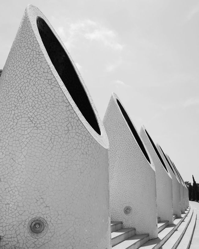 Built Structure Architecture Outdoors Black And White Photography MonochromePhotography Monochrome Photography Calatravaarchitecture Valencia, Spain Travel Travel Destinations