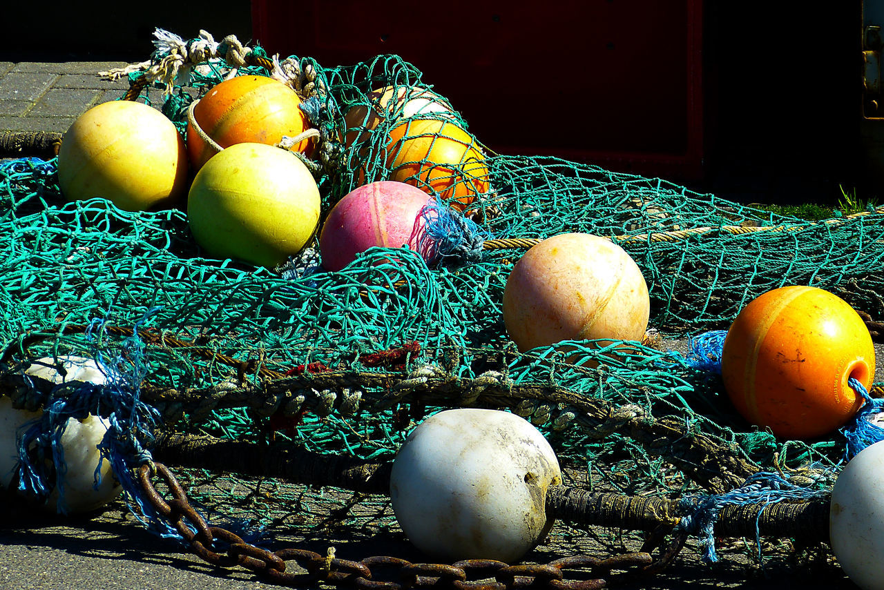 Fischernetz Fishing Fishing Net Maritime Photography Sea Ship Water