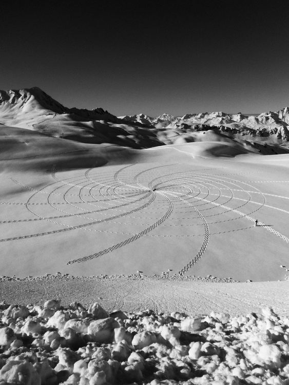 blackandwhite at La Plagne, France by HaikuCoup