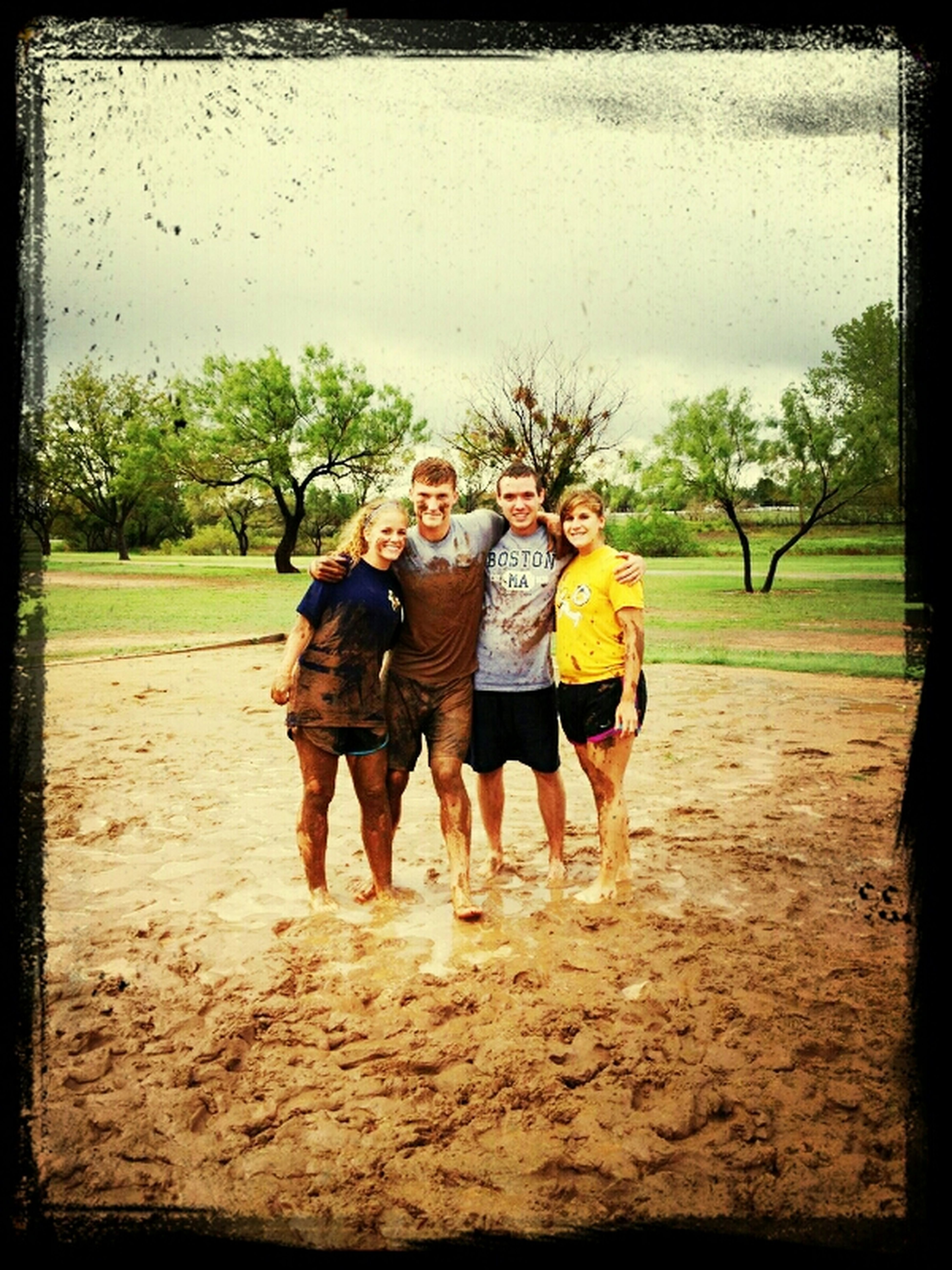 Playing In Volleyball In The Mud At Western Texas College