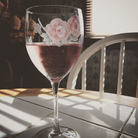 Wine Relaxation Time Sun Flare