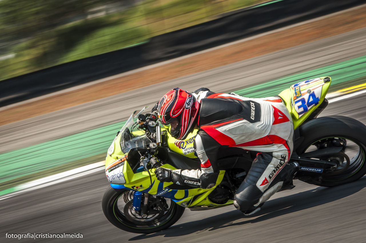 Blurred Motion Colorful Corrida Helmet Interlagos  Motorbike Motorsport Motovelocidade Panning Race Speed Superbike