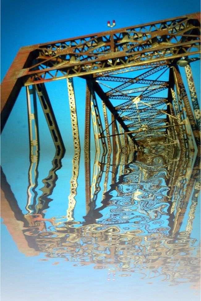 Bridge Different Perspective Playing With Pictures. Structuralphotography Structures Reflection Abstract Art Abstractarchitecture