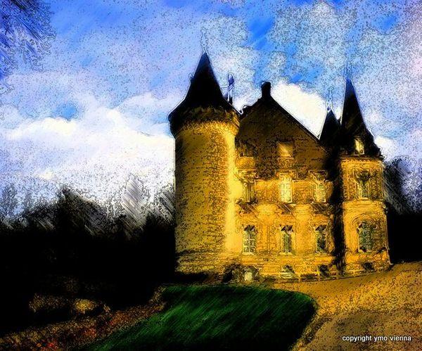 Le Château de ma mère Enfance Château Hello World Digitalart  Digital Painting Ymoart YMO Light And Shadow Château De Nieuil Nieuil
