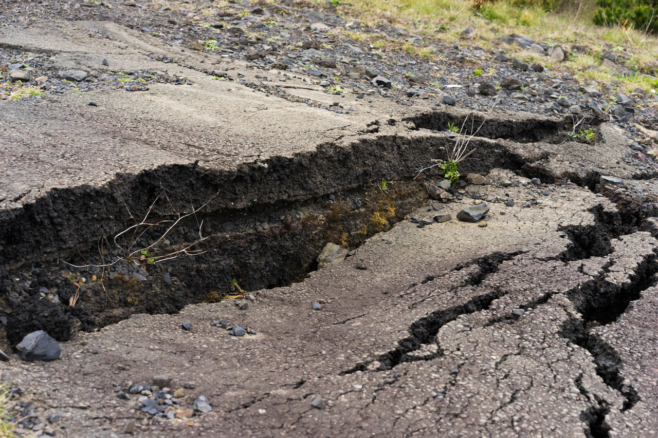 Photos from a road devastated by an earthquake and the following earth movement. The photos illustrate well what a road looks like after an earth quake Damage Damaged Day Daytime Death Destroyed Destrucción Destruction Destruction Can Be Beautiful Devastation Disaster Earth Quake Earthquake Injuries Natural Beauty Powerful Road Sink Sink L Subsidence Subsidence Damage Subway Tarmac Tarmac Time