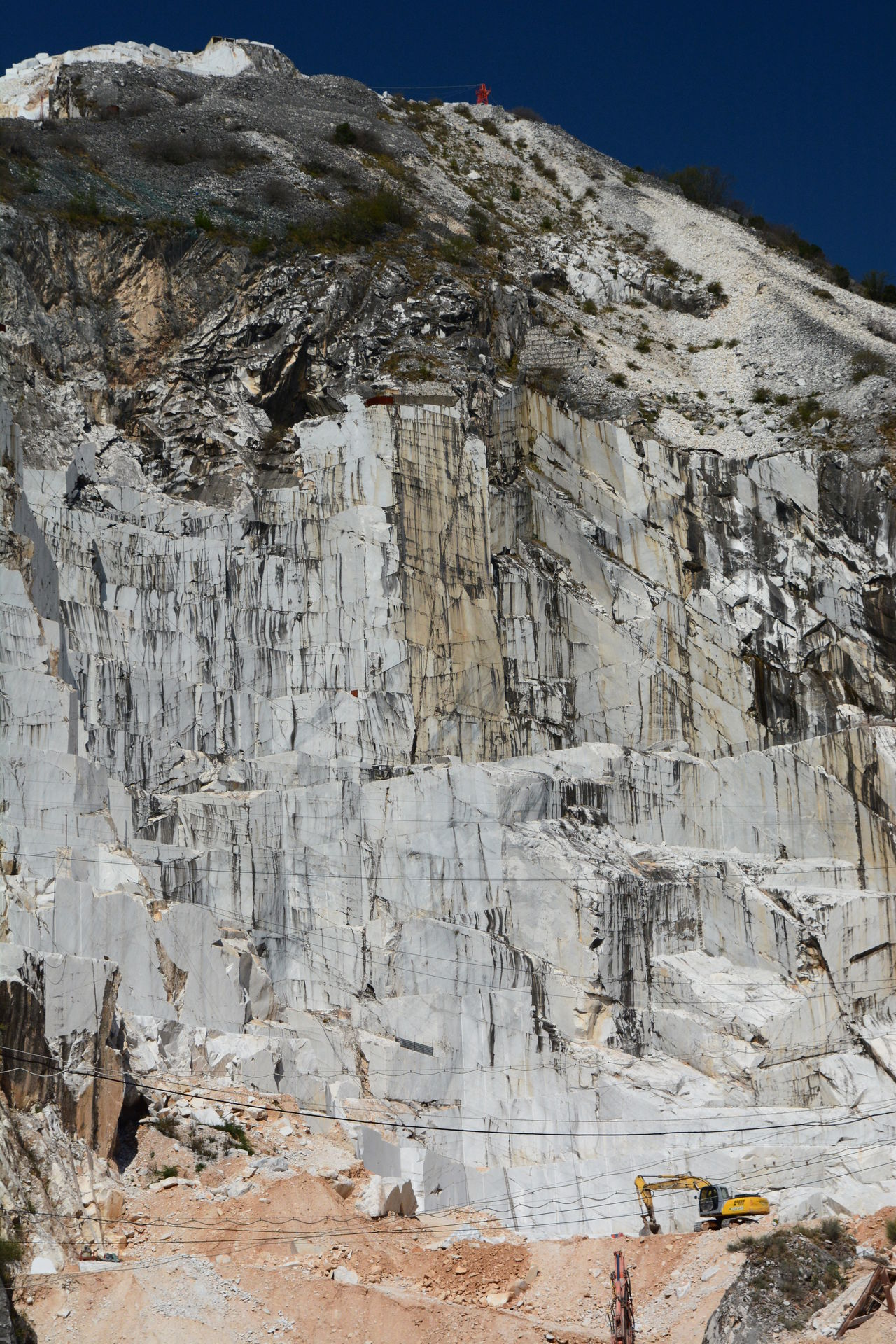 Marble quarry. Carrara province. Apuan alps. Italy Apuan Alps Apuane Mountains Carrara Carrara Marble Cliff Extraction Italy Marble Marble Quarry Mountain Nature Outdoors Quarries Quarry Toscana Tuscany Tuscanygram White White Marble Working Place