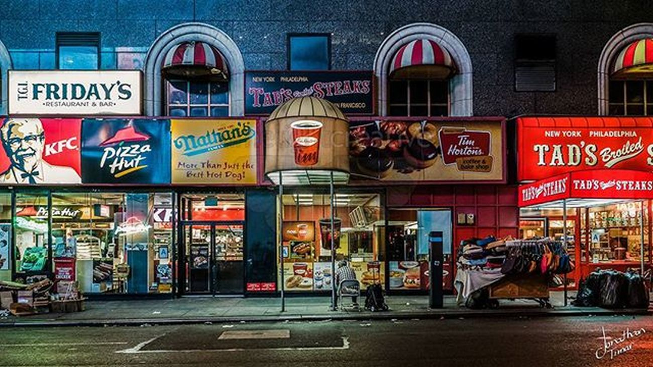 Time Horton's In Times Square - New York, New York Newyork Newyorkcity Timhortons Street Night Cityscape Limelightcreative