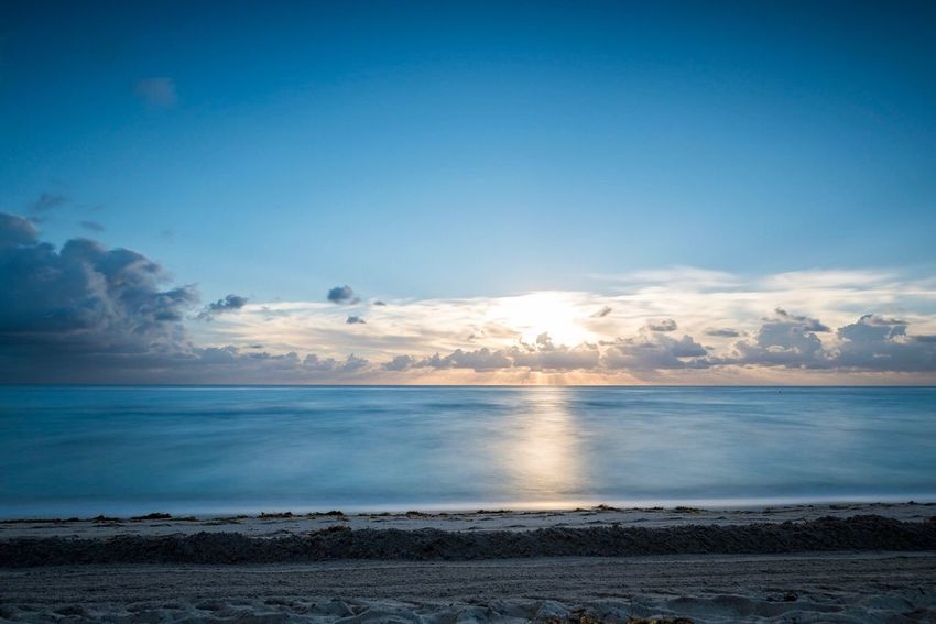 Sea Beach Water Horizon Over Water Scenics Nature Beauty In Nature Sky Tranquil Scene Sand Tranquility No People Outdoors Day Florida Miami Beach USA