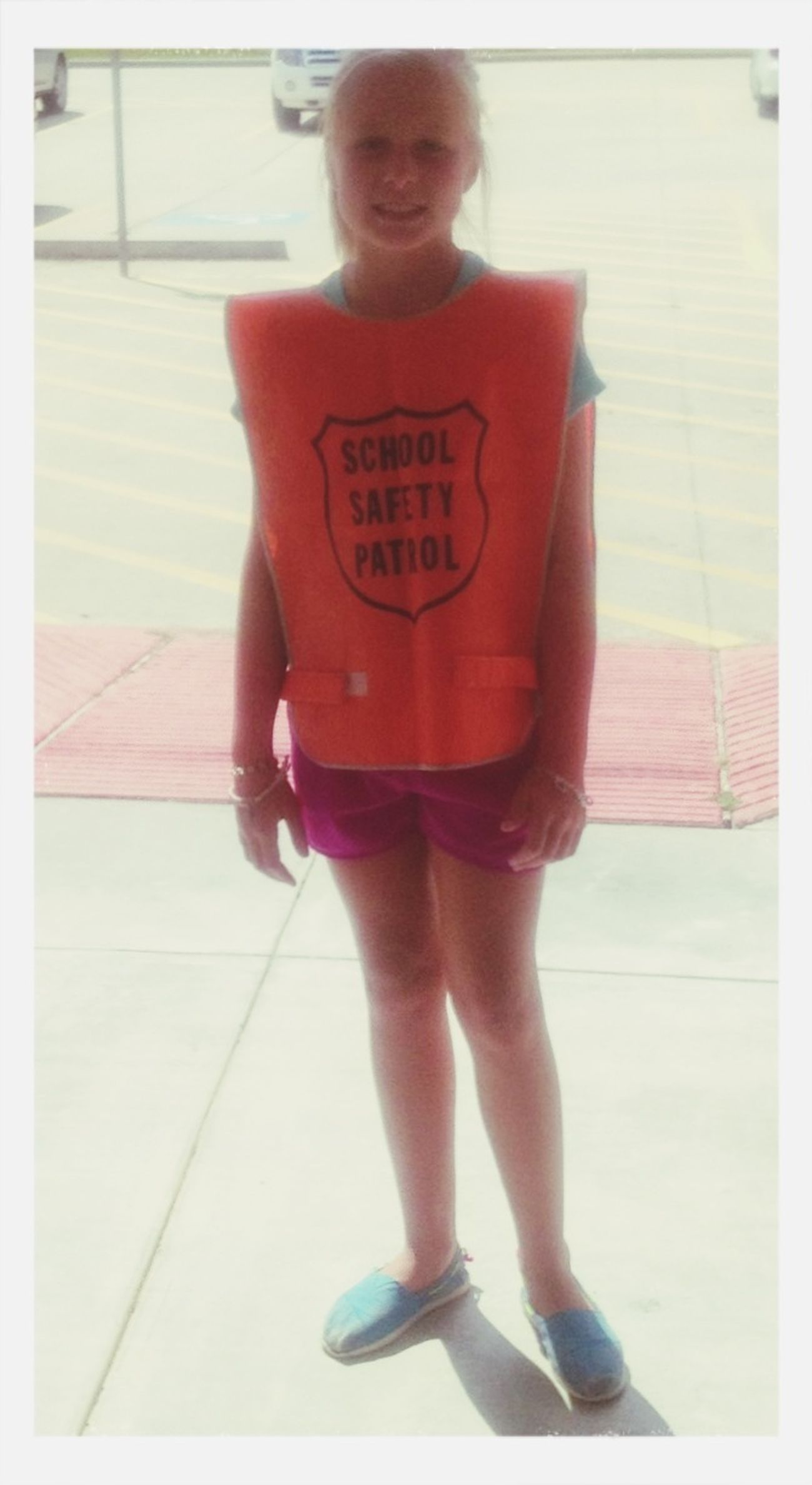 LULU'S 1st day of safety patrol.
