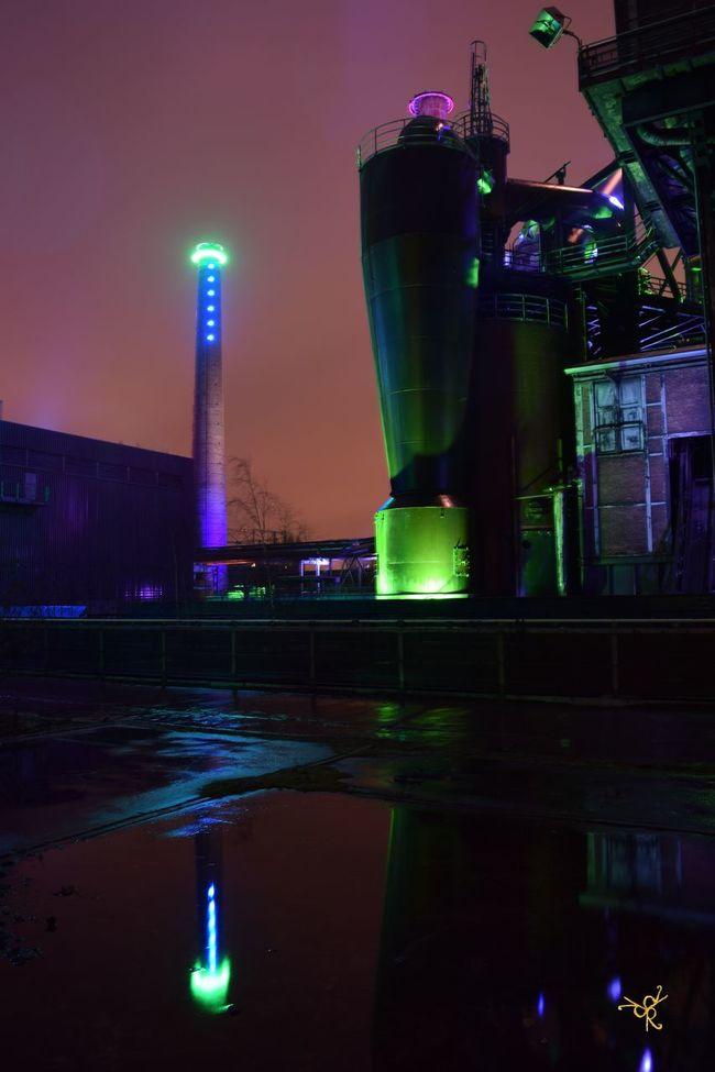 Architecture Arts Culture And Entertainment Building Exterior Built Structure City City Life Duisburg Glowing Illuminated Industrial Industrie Landmark Landschaftspark Duisburg-nord Landschaftspark   Duisburg   Germany Light Light Lighting Equipment Night Urban