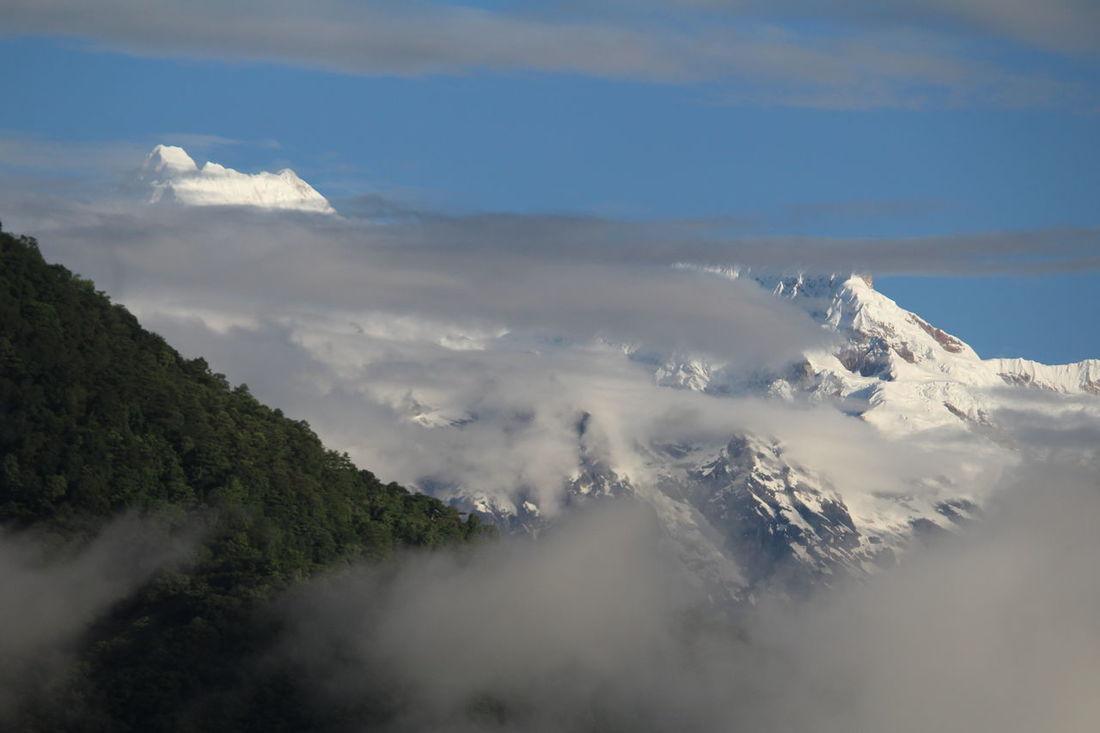 Mt Kanchandzonga early shot from Mangan North Sikkim Himalayanwonders Mountain Range Mountainview Sikkim Mangan Adventure MtKanchenjunga Nature's Diversities