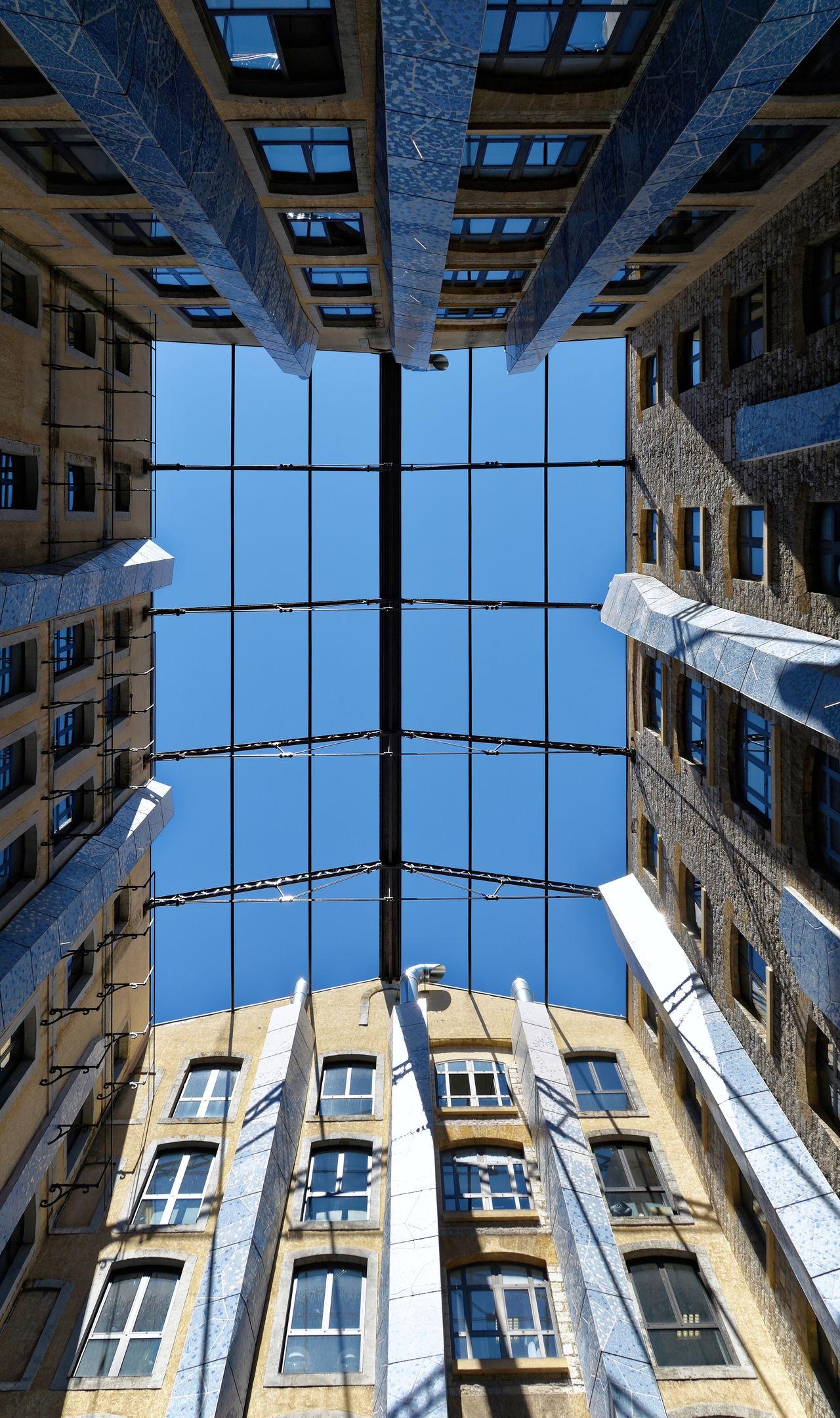 Architecture Blue Built Structure City Life Courtyard  La Joliette Office Building Pivotal Ideas Sky Les Docks Docks