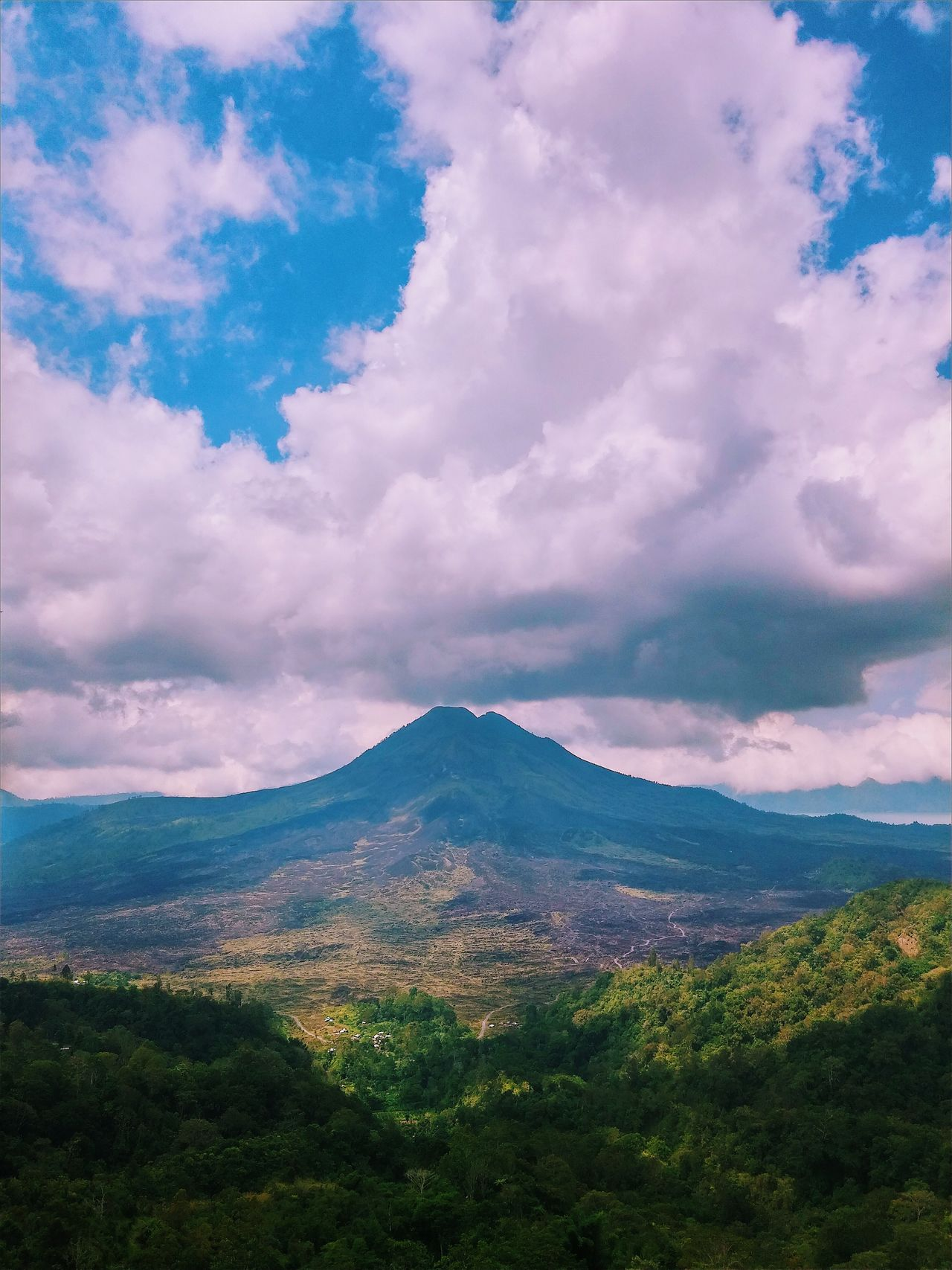 Nature_collection EyeEm Nature Lover Landscape_Collection Landscape_photography Mountain View Volcano Sky And Clouds Big Clouds Mount Batur Landscapes With WhiteWall Blue Wave