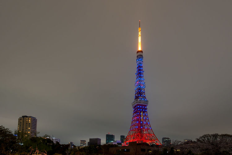 Architecture City Cityscape Illuminated Japan Travel Light On Tokyo Tower Night No People Outdoors Sky Skyscraper Tokyo Tokyo Iconic Building Tokyo Tower Tokyo Tower Night View Tower Travel Travel Destinations Urban Skyline