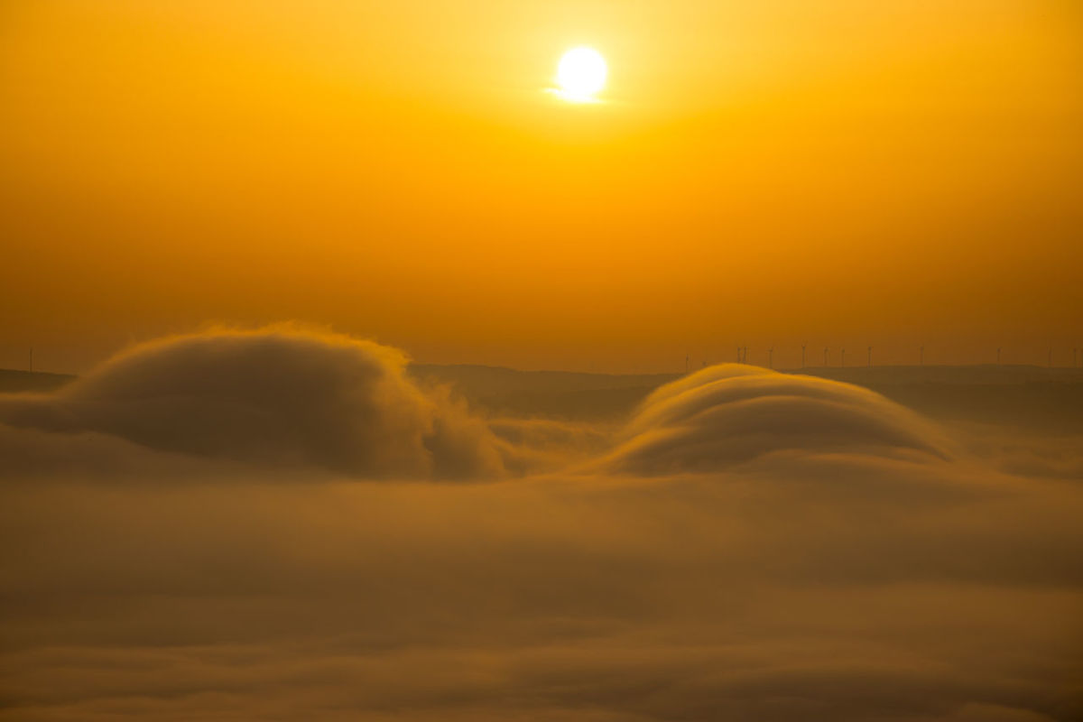 Above The Fog Autumn Autumn Sunrise Dream Misty Mystic Sea Of clouds Tranquility Above The Clouds Beauty In Nature Idyllic Nature Outdoors Scenics Sky Sun Sunrise Sunset Tranquil Scene Tranquility
