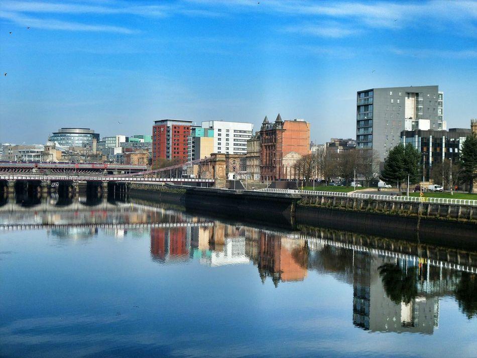 River Clyde Riverside Water Reflections Waterfront Glasgow  GLASGOW CITY Glasgowbridge