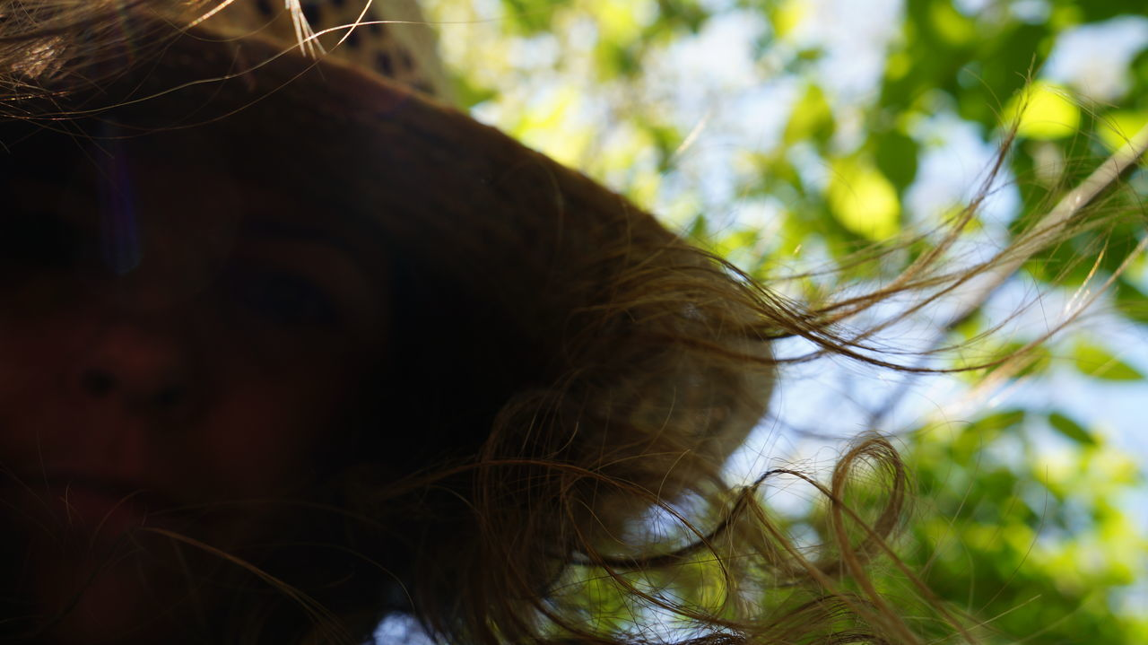 Close-up Detail Gardner Green Growth Hair Hat Leaf Nature Outdoors Part Of Person Plant Selfie The Portraitist - 2016 EyeEm Awards Woman Woman Portrait