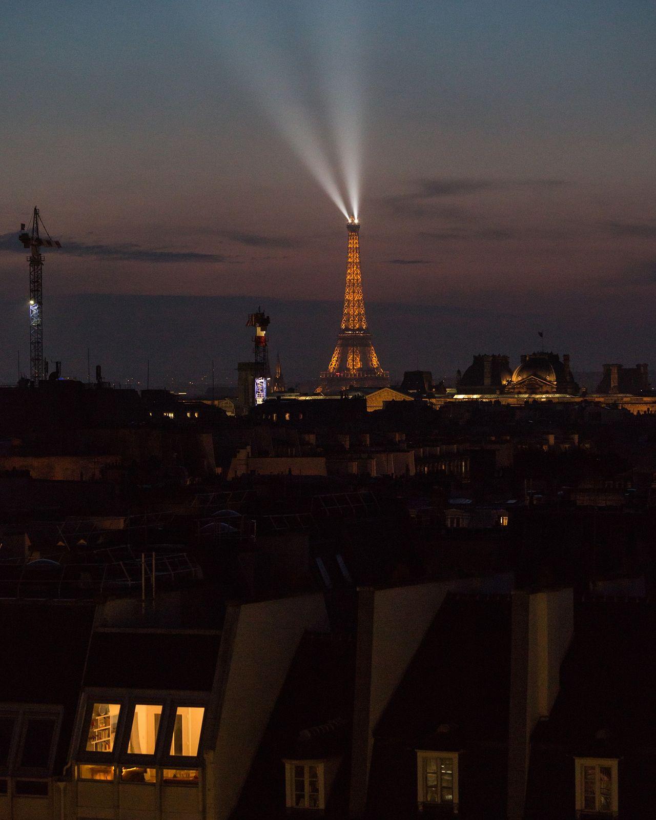 Tour Eiffel Double Paris Amour Centre Pompidou Laowa105mm Building Exterior Sky Paris By Night Windows View