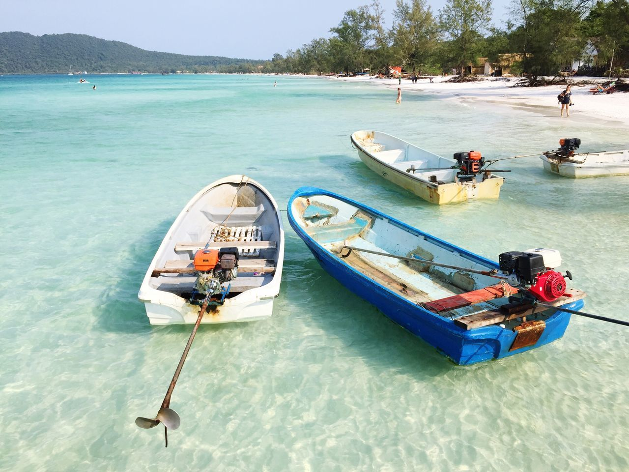 the Photo is taken at Koh Rong Samloem , Cambodia . A Heaven in Earth that I have ever been. The Sea is very clear with white Sand . One of the Beautiful Beach in ASIA . Thebroadlife