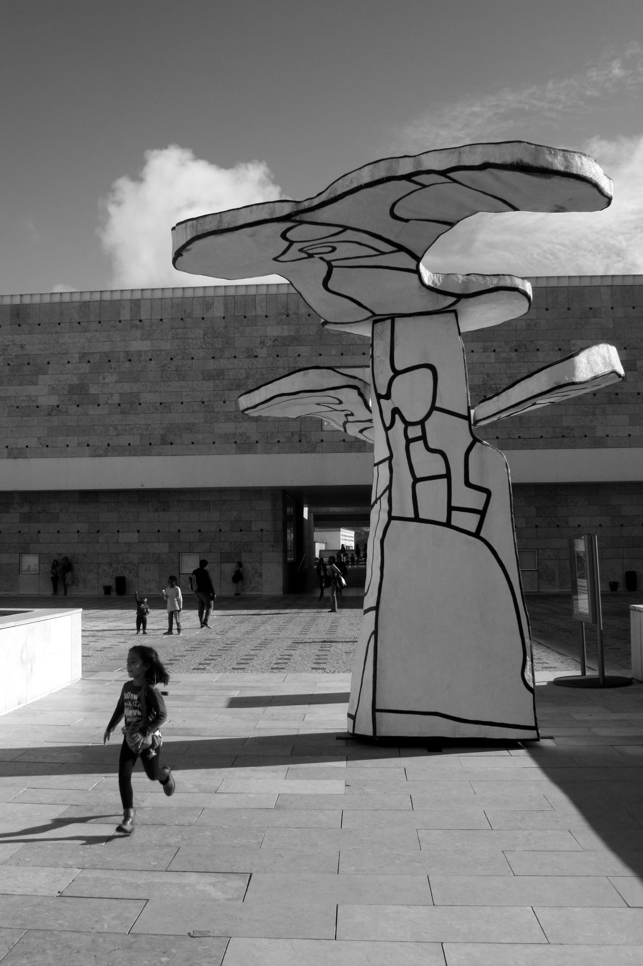 Architecture Art Building Exterior Built Structure City Day Dubuffet Full Length Lifestyles Lisbon Men One Person Outdoors People Real People Sculpture Sky