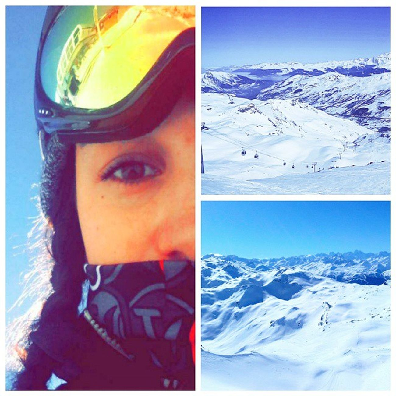 Le jour de congé qui passe super bien 😃👌🎿❄ Sunnyday Surlespistes Lamasse Lesmenuires 3vallées Skiingday Autop Perfectday