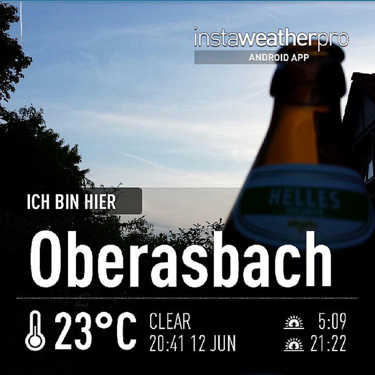 Weather Instaweather Instaweatherpro Androidonly androidnesia instagood Oberasbach Deutschland beer augustiner
