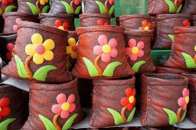 Auburn Ceramic Close-up Earthenware Flower Goods Handmade Multi Colored No People Pot Pottery Ware
