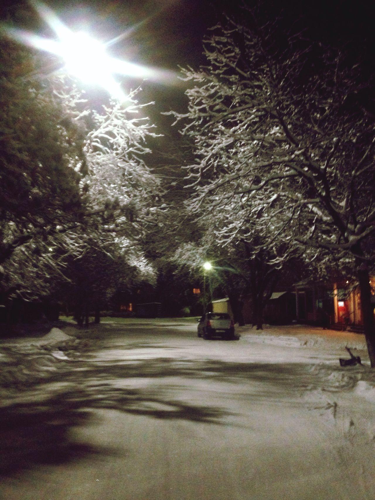 Зимняя ночь Зимняя сказка❄️⛄️❄️