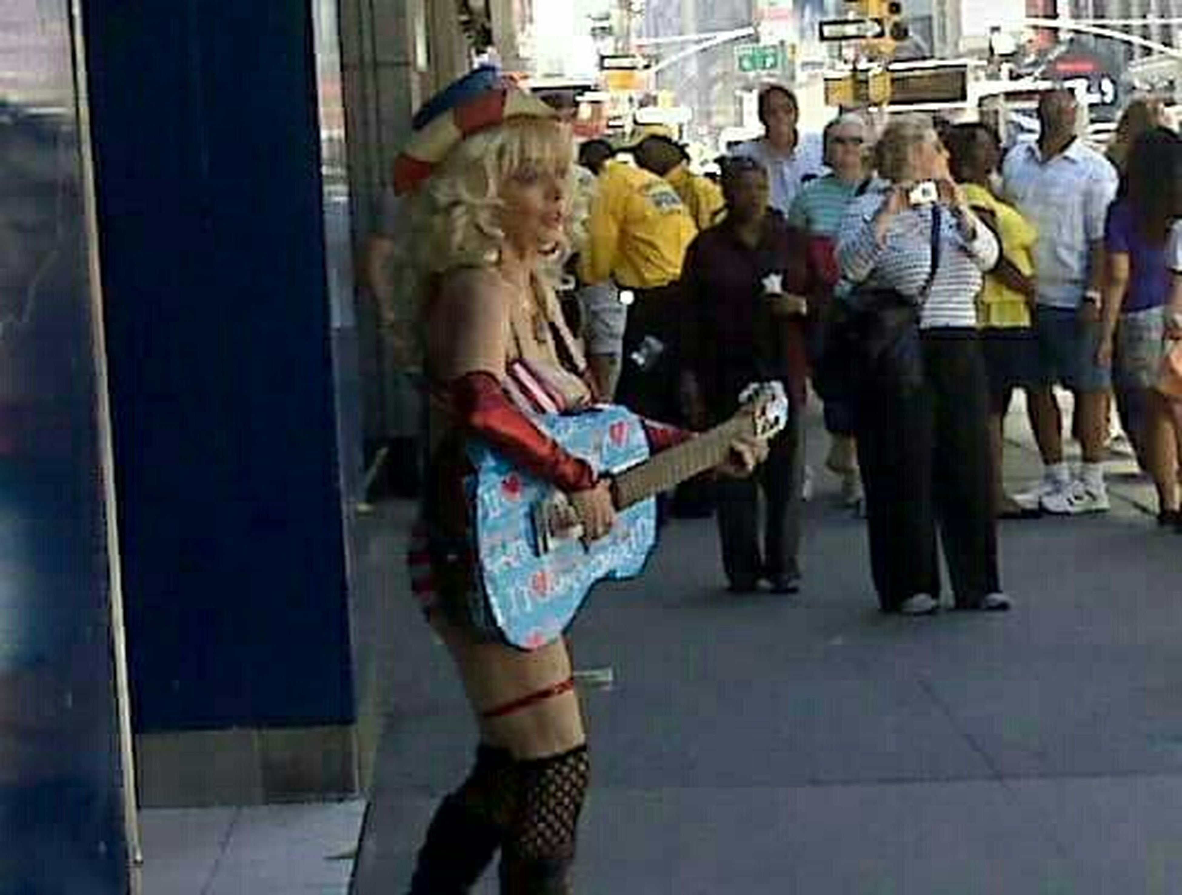 RePicture Ageing Times Square Cowgirl Granny