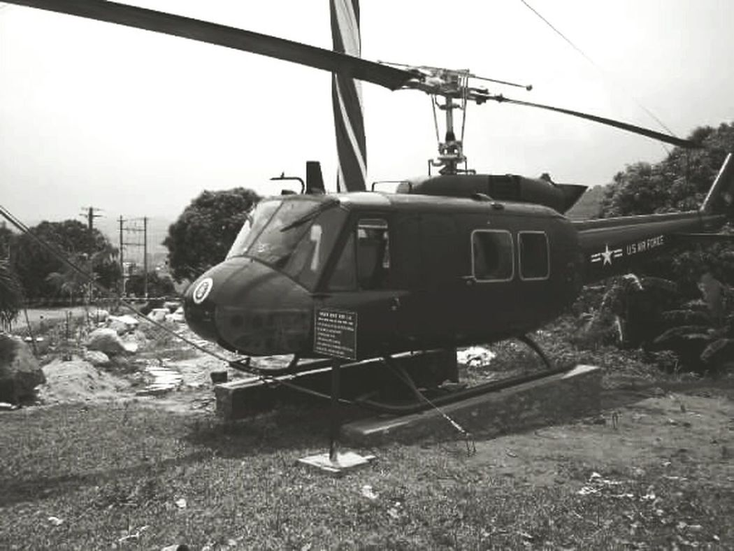 No People Outdoors Vietnam Helicopter