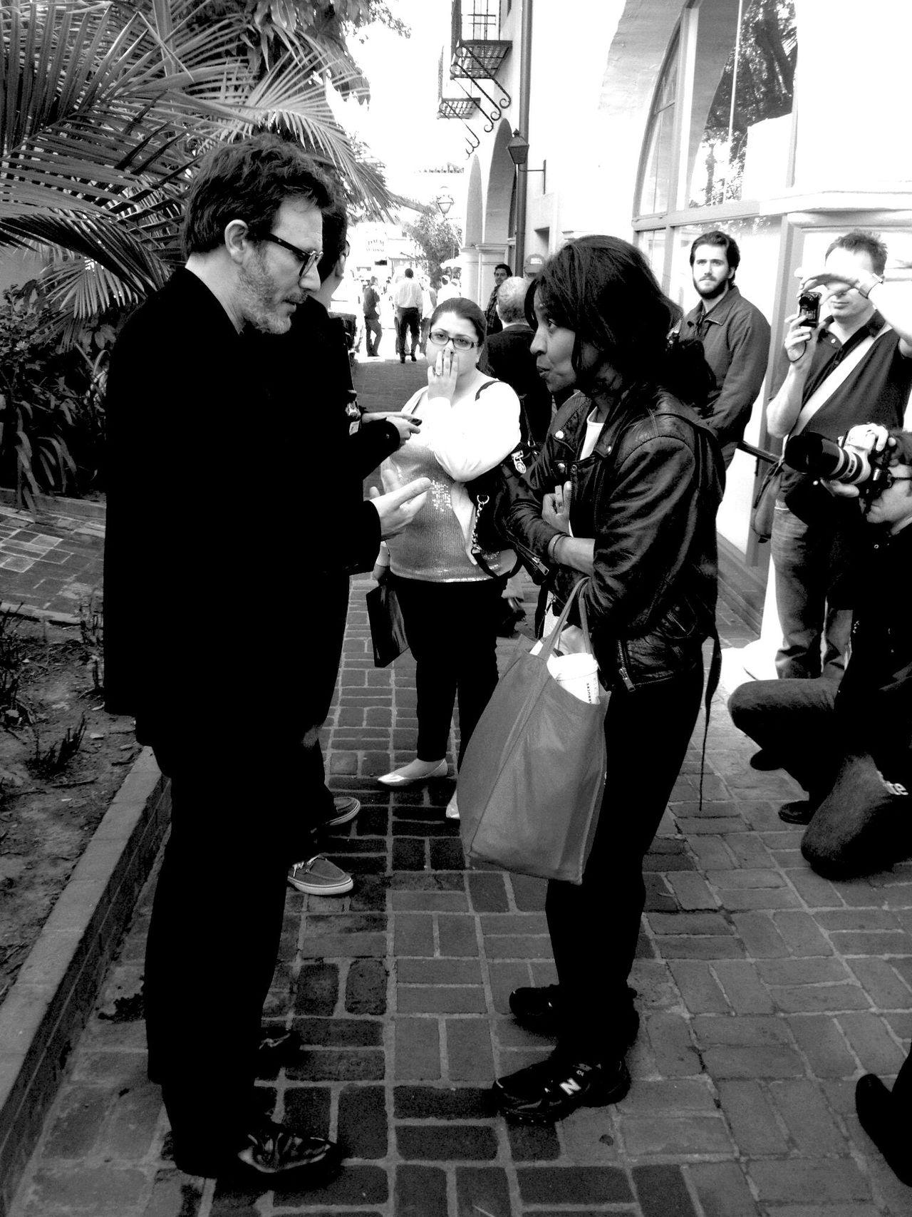 QVHoughPhoto Santabarbara California Sbiff Filmfestival Theartist Blackandwhite Michelhazanavicus Director IPhoneography IPhone4s