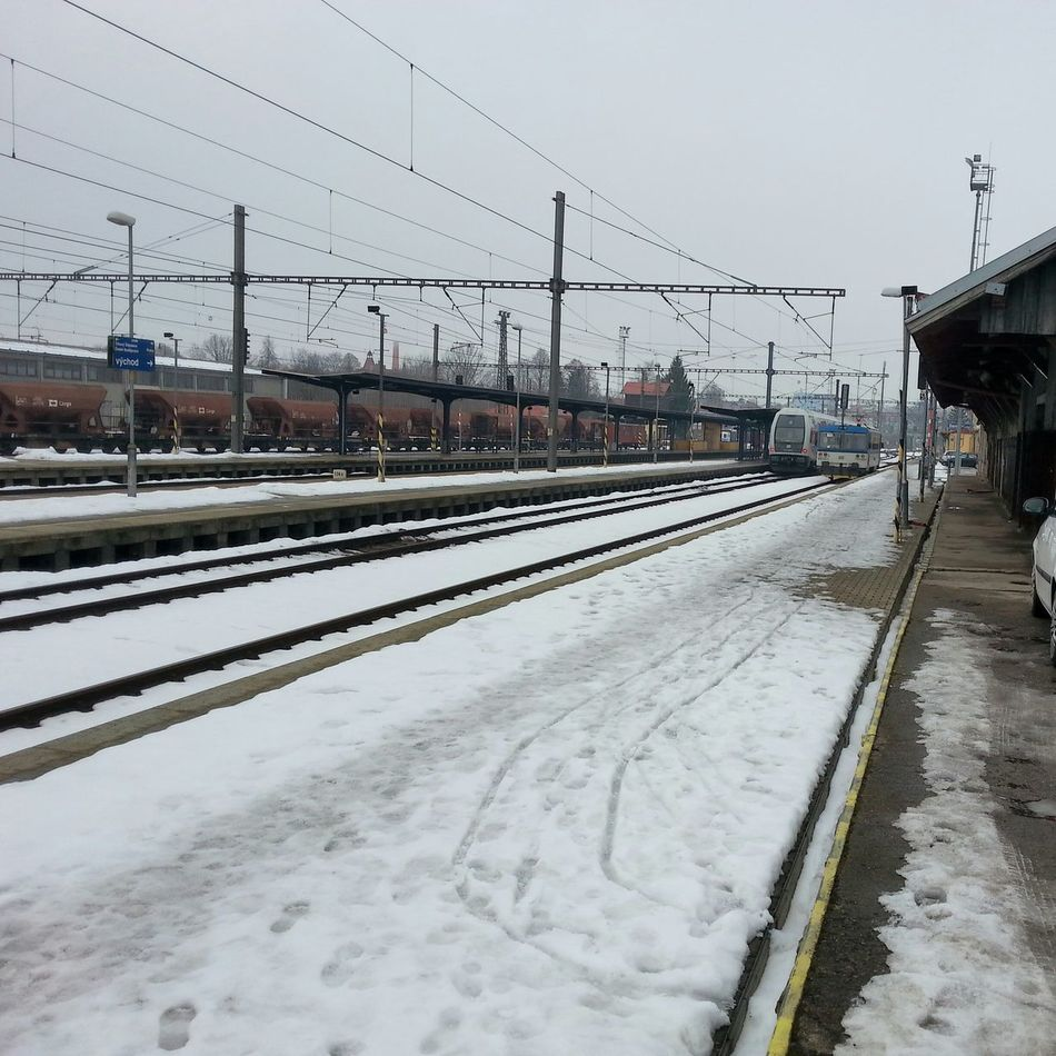 Transportation Mode Of Transport Winter Snow Outdoors Public Transportation Cold Temperature Day Sky No People