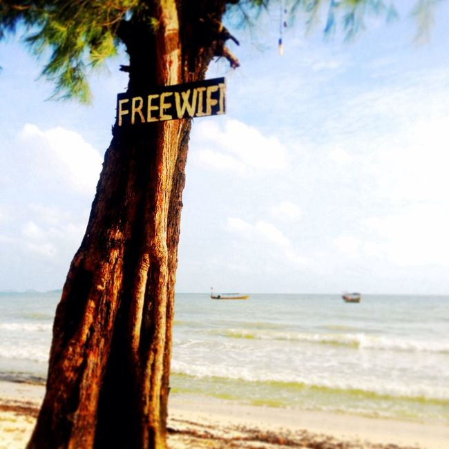 Paradise is... free wifi with toes in the sea. Paradise Being A Beach Bum Beach Cambodia